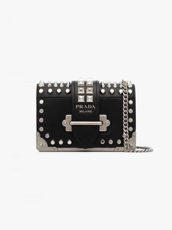 Prada black cahier small leather shoulder bag