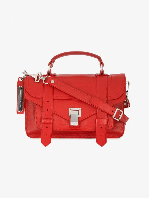 Proenza Schouler Red PS1 Mini Leather Shoulder Bag