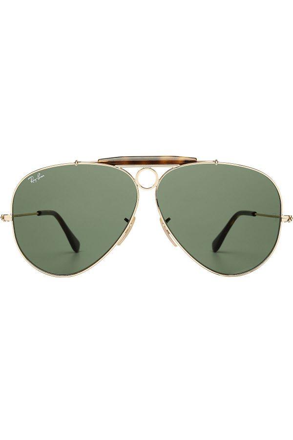 Ray-Ban Shooter Metal Aviator Sunglasses