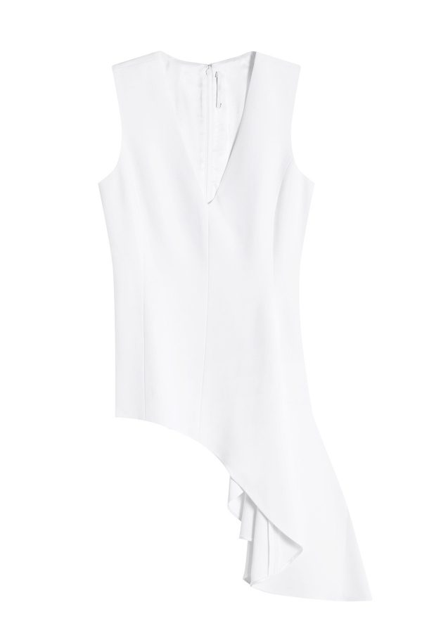 Rosetta Getty Asymmetric Sleeveless Top