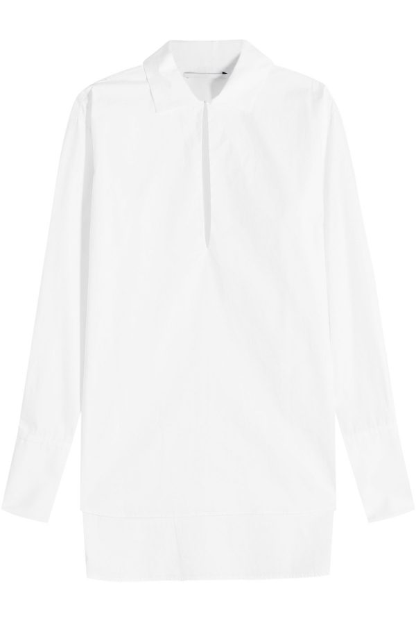 Rosetta Getty Slit Front Cotton Shirt