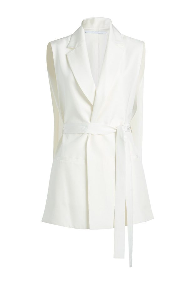 Rosetta Getty Tailored Vest with Belt