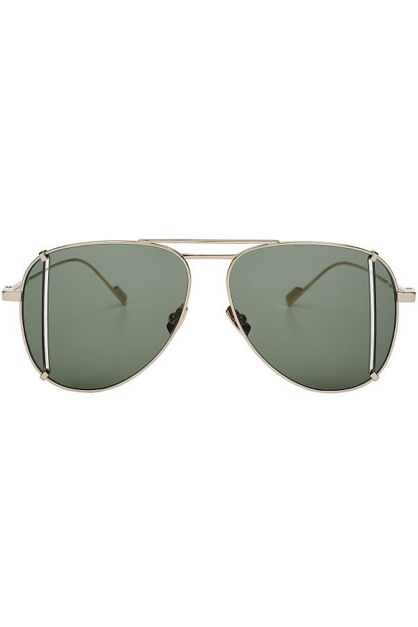 Saint Laurent Aviator Sunglasses with Cut-Out Detail