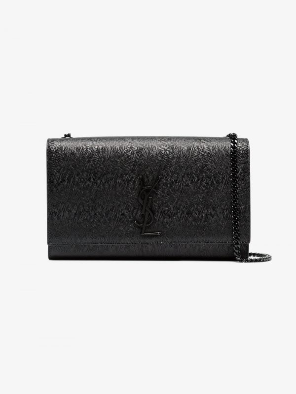 Saint Laurent Black Kate medium leather shoulder bag