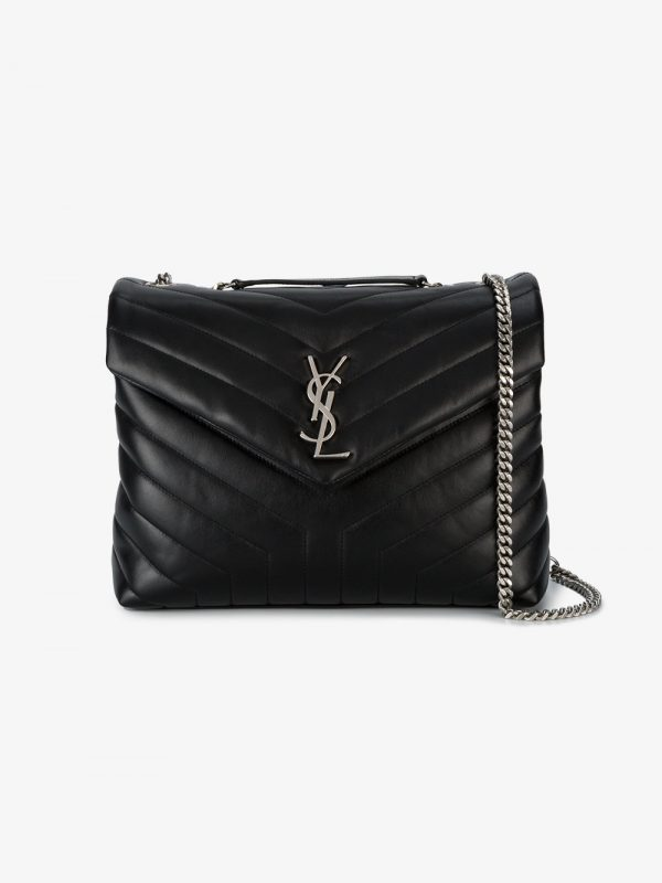 Saint Laurent Black Lou Lou Leather Shoulder bag
