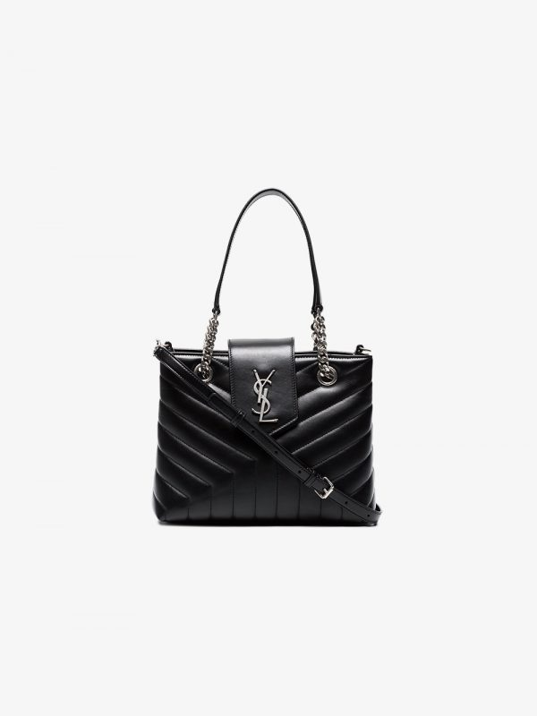 Saint Laurent Black Loulou small quilted leather bag