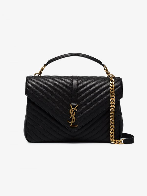 Saint Laurent Black collège leather shoulder bag