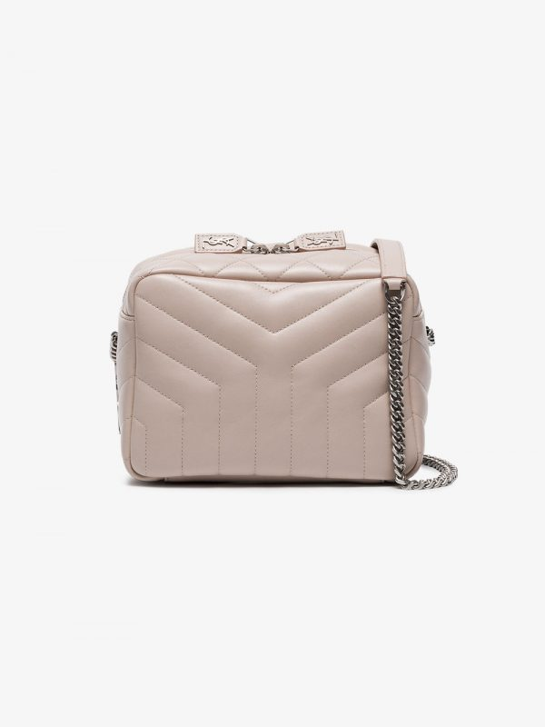 Saint Laurent Light Pink Monogram Lou Lou Leather Box Bag