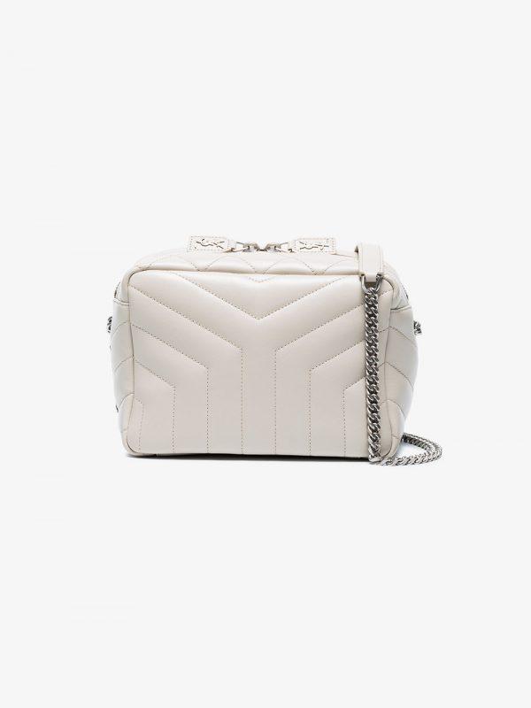 Saint Laurent White Lou Lou small leather box bag