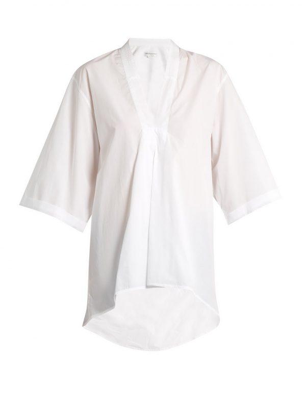 Signature Lindbergh V-neck cotton shirt