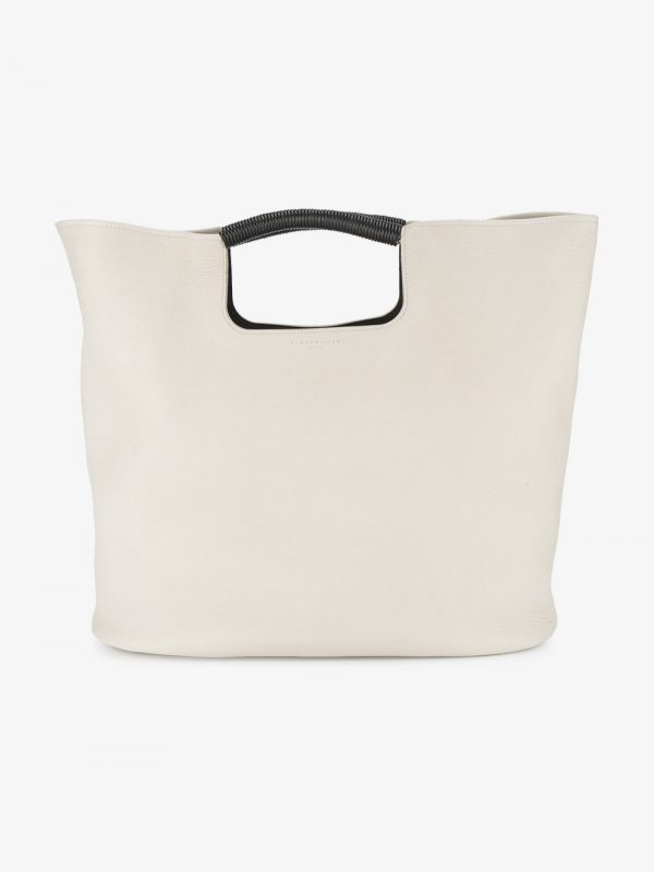 Simon Miller white Birch large leather tote bag