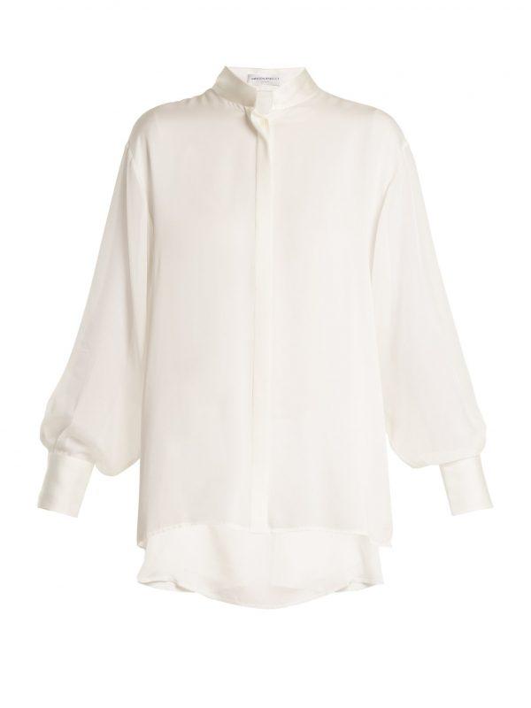 Sinai drop-shoulder silk shirt