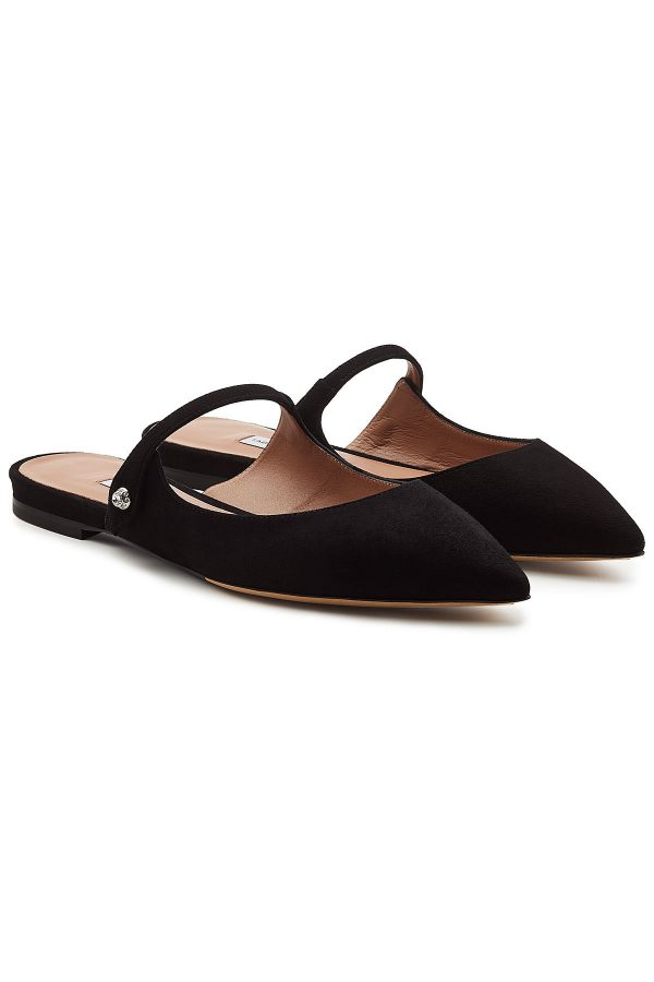 Tabitha Simmons Kittie Suede Mules