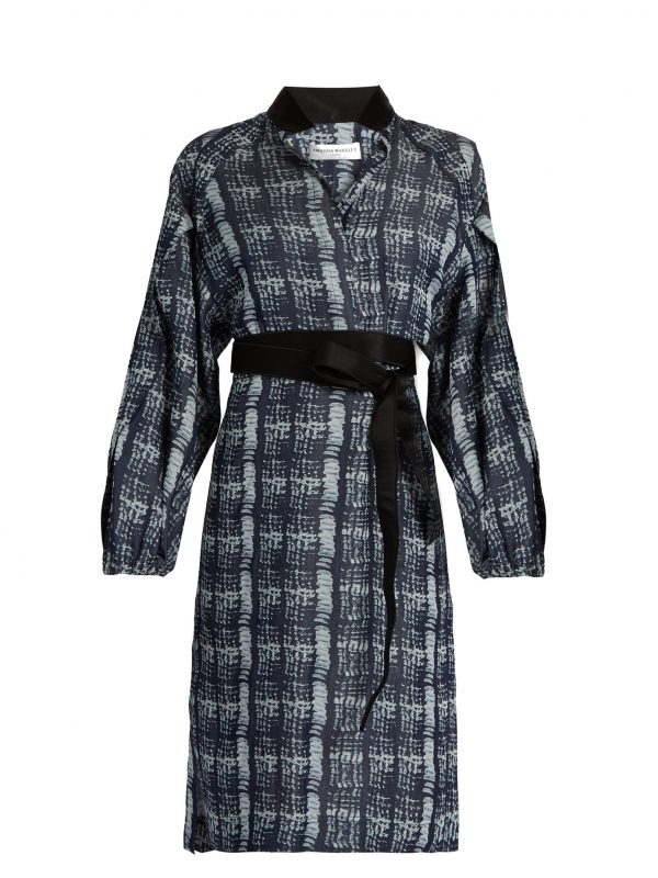 Tempo denim-print shirtdress