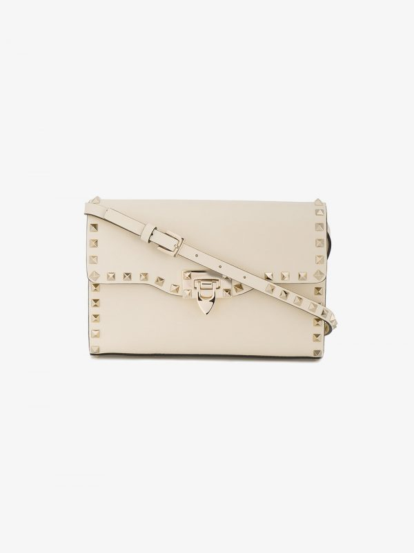 Valentino ivory rockstud medium cross body bag