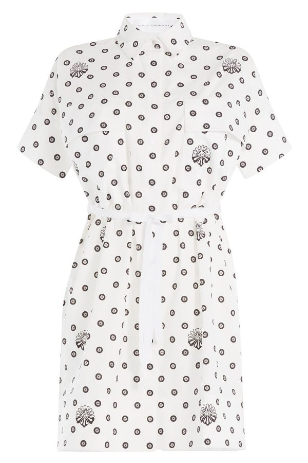 Victoria Victoria Beckham Printed Cotton Shirt Dress
