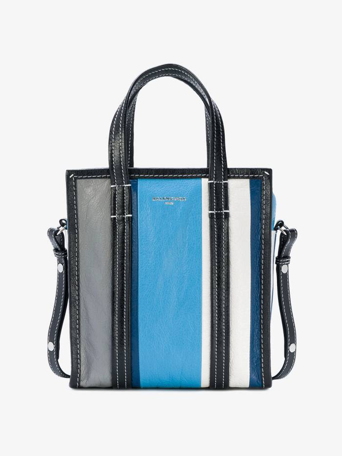 Balenciaga Blue Stripe Bazar Shopper Mini Tote bag