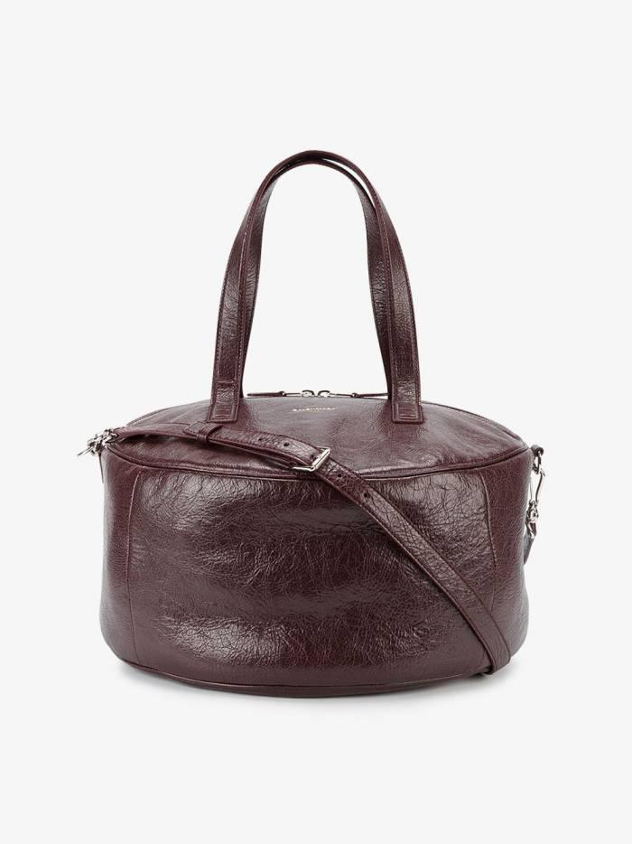 Balenciaga Burgundy Air Hobo Medium Leather Tote Bag