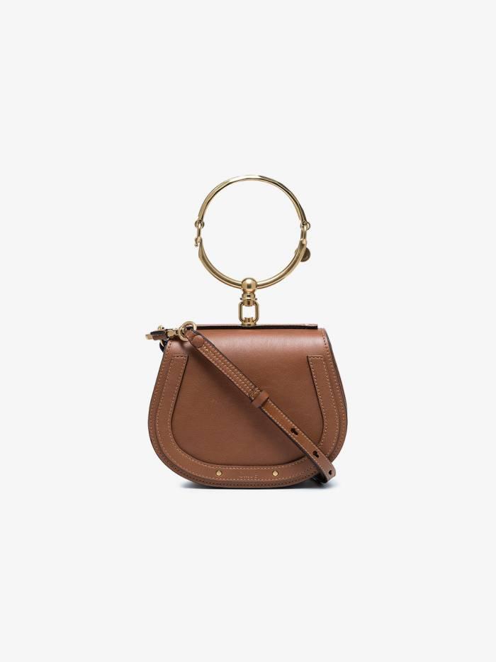 Chloé Brown Nile small leather bracelet bag