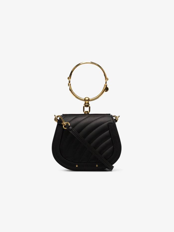 Chloé black Nile small quilted leather shoulder bag