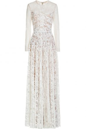 Elie Saab Floor-Length Lace Gown