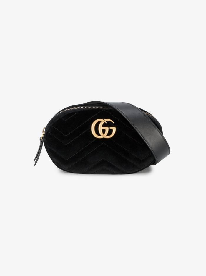 Gucci Black Marmont Velvet Belt Bag