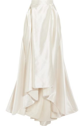 Halfpenny London - Georgie Pleated Satin Maxi Skirt - Ivory