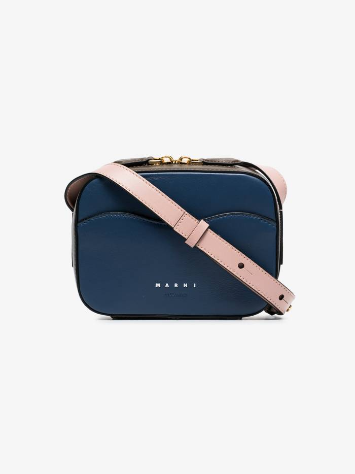 Marni blue Shell leather cross-body bag