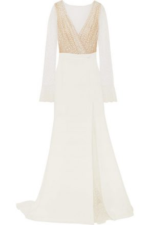 Rime Arodaky - Joni Swiss-dot Tulle And Crepe Gown - White
