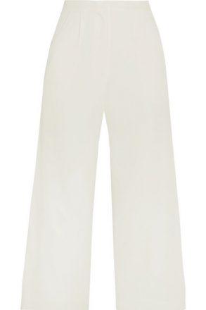 Rime Arodaky - Lapa Cropped Crepe Wide-leg Pants - White