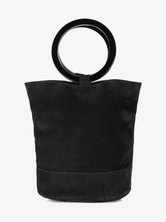 Simon Miller black Bonsai 30 large suede bucket bag