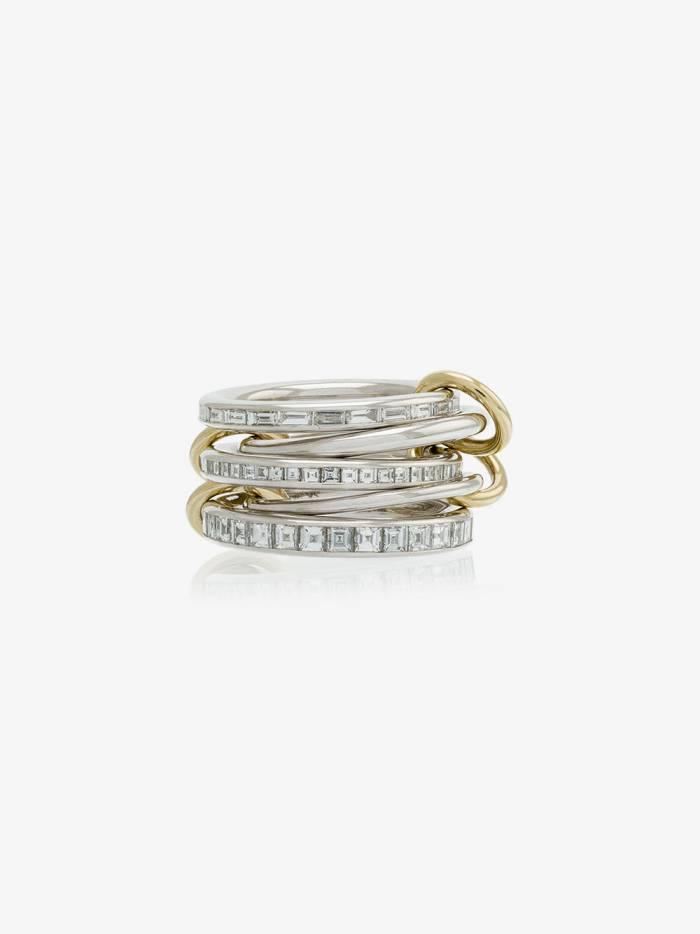 Spinelli Kilcollin 18k white yellow gold augusta diamond ring