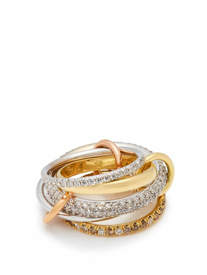 Venus 18kt gold and diamond ring