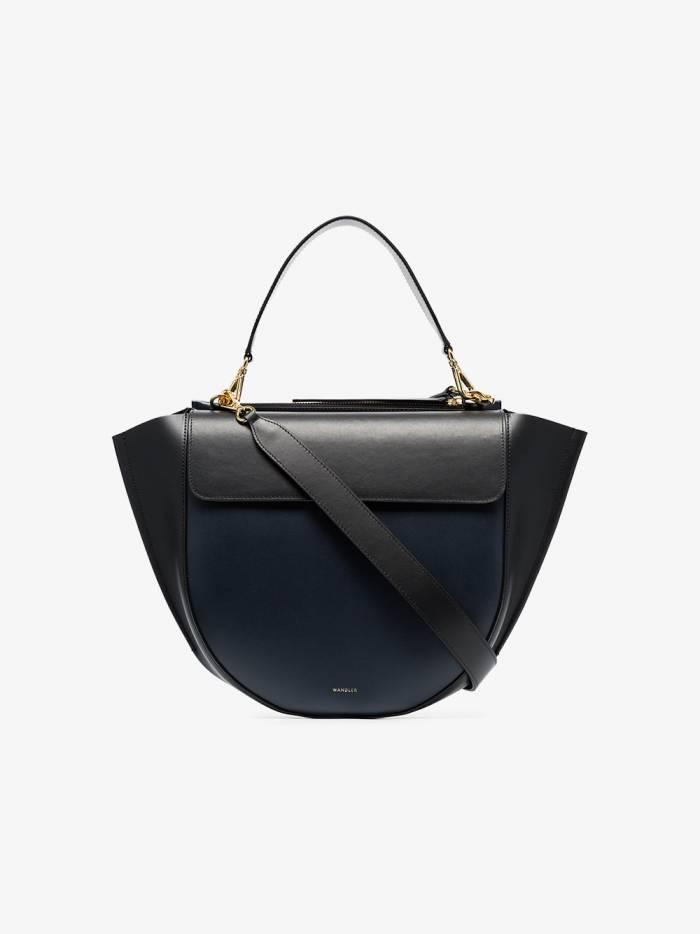 Wandler black and navy blue hortensia leather shoulder bag