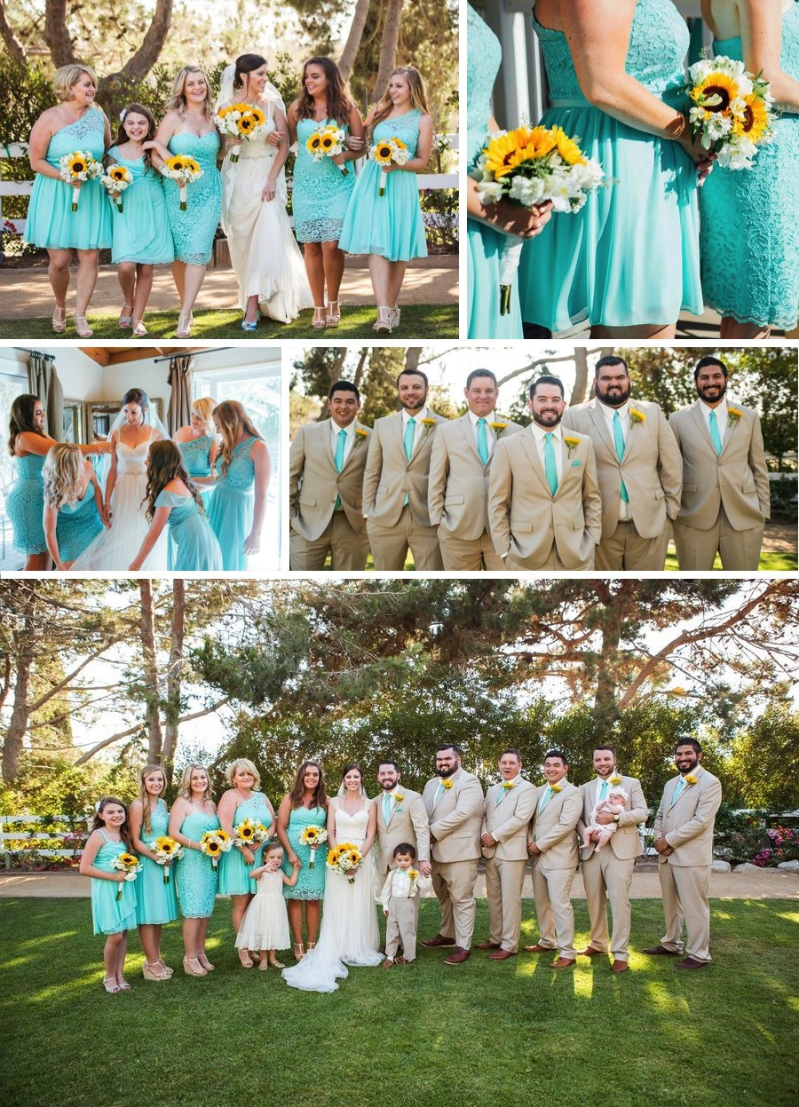 Real Wedding: Sunshine and sunflowers