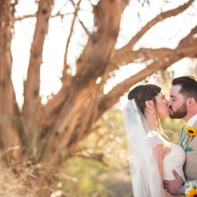 Real Wedding California: Sunshine and sunflowers