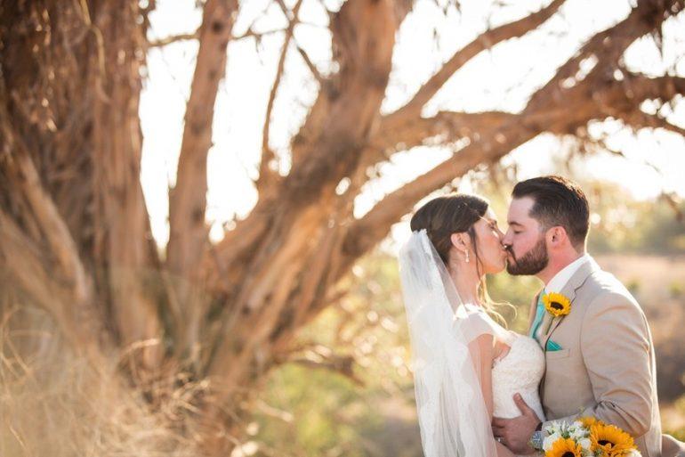 Real Wedding California: Sunshine and sunflowers