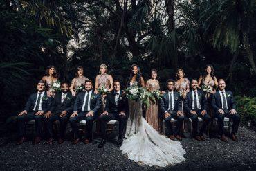 Real wedding: Tropical greenery in Miami