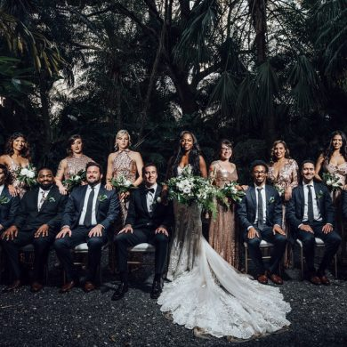 Real wedding: Tropical greenery in Miami