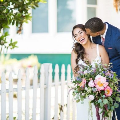 Real wedding: Wild flowers in the garden