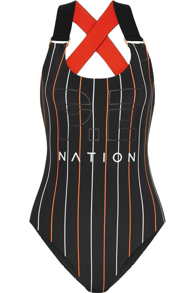 P.E NATION - The West Port Reversible Swimsuit - Black