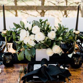 Wedding Colour Palette: Black and White