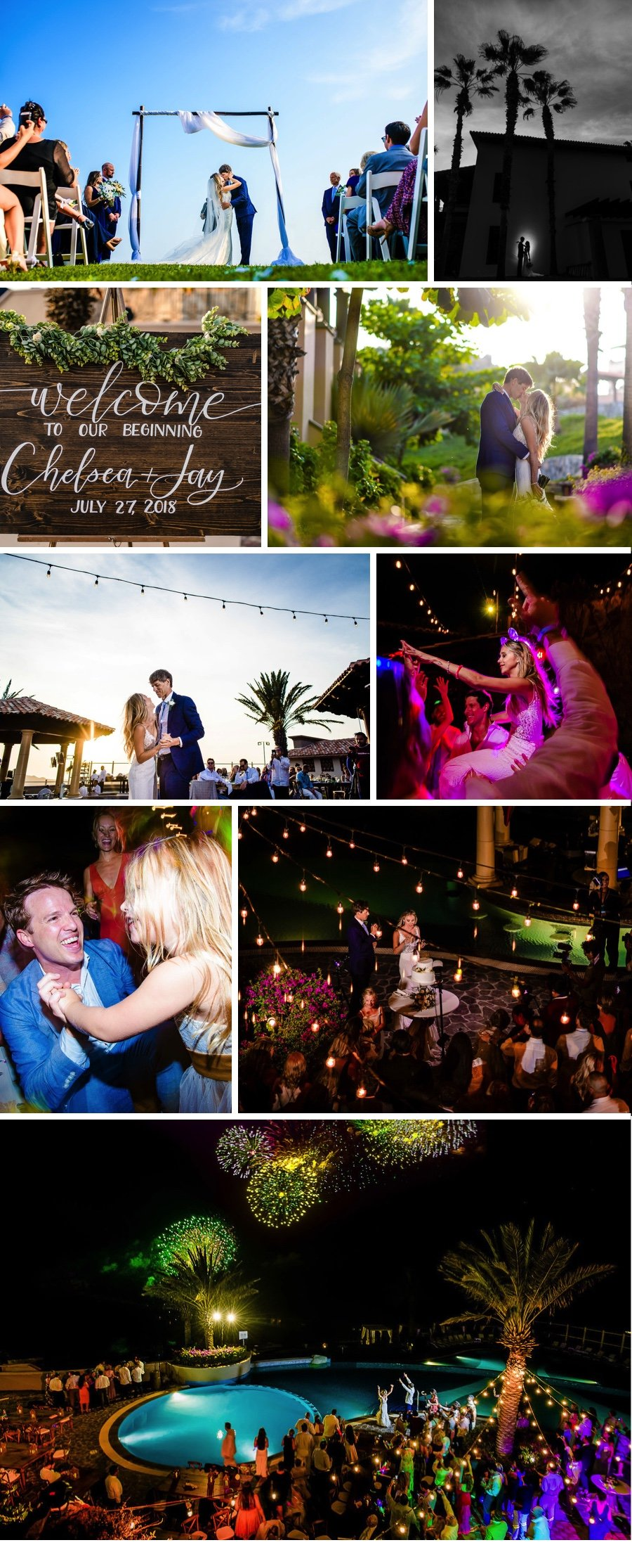Real wedding: Ocean blue in Los Cabos