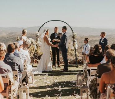 Real wedding: A Californian hilltop and tacos