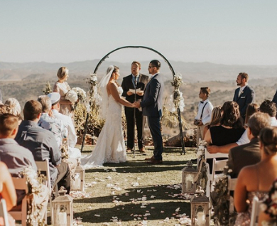 Real wedding: A Californian hilltop and tacos