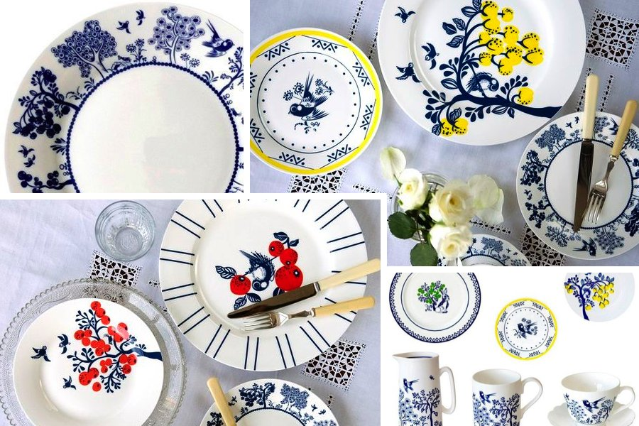 Colour palette: willow pattern
