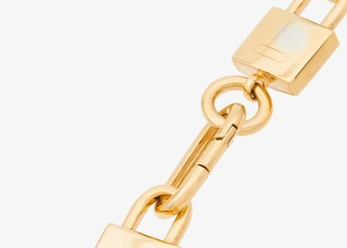 Ambush Gold padlock link necklace
