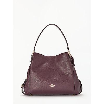 Coach Edie 31 Polished Pebble Leather Shoulder Bag