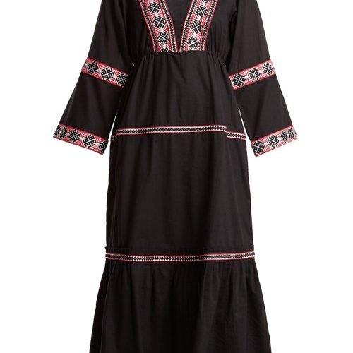 Daft – Istanbul Geometric Pattern Web Dress – Womens – Black Multi