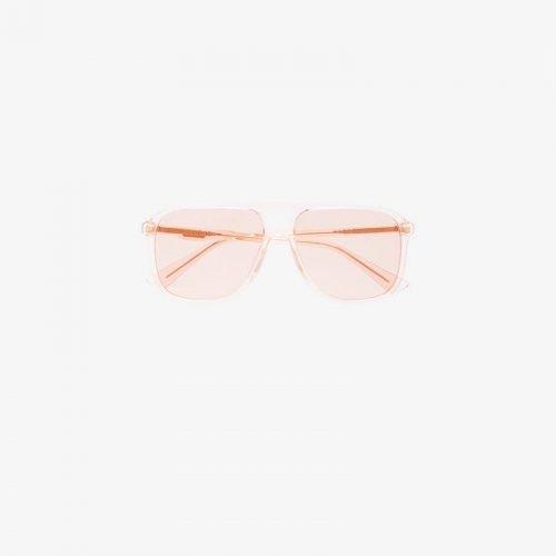 Gucci Eyewear GG0262S Pink Aviator Sunglasses